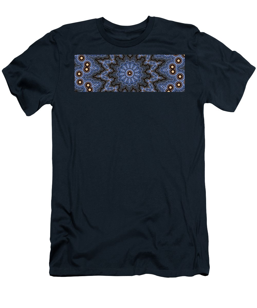 Kaleidoscopes Men's T-Shirt (Athletic Fit) featuring the photograph K12 by Mechala Matthews