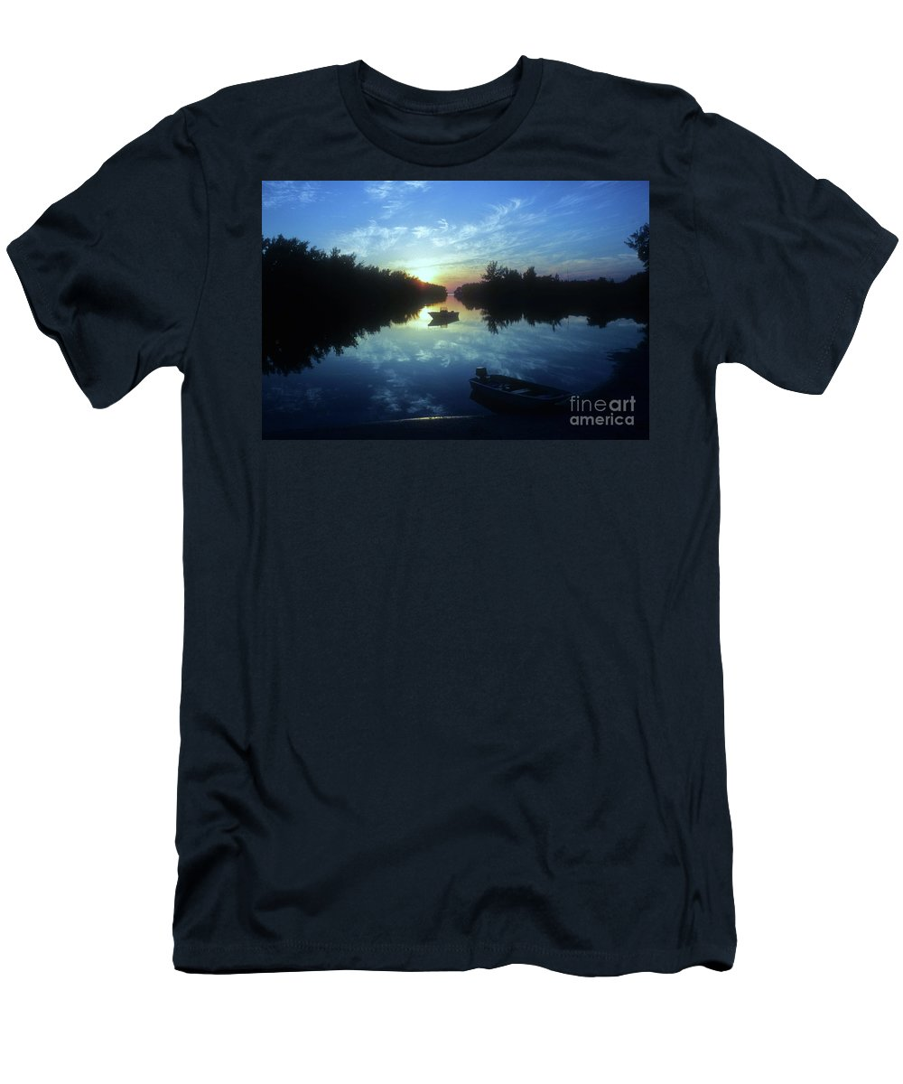 Key Biscayne Sunset Men's T-Shirt (Athletic Fit) featuring the photograph Key Biscayne Sunset 2 by Allen Beatty
