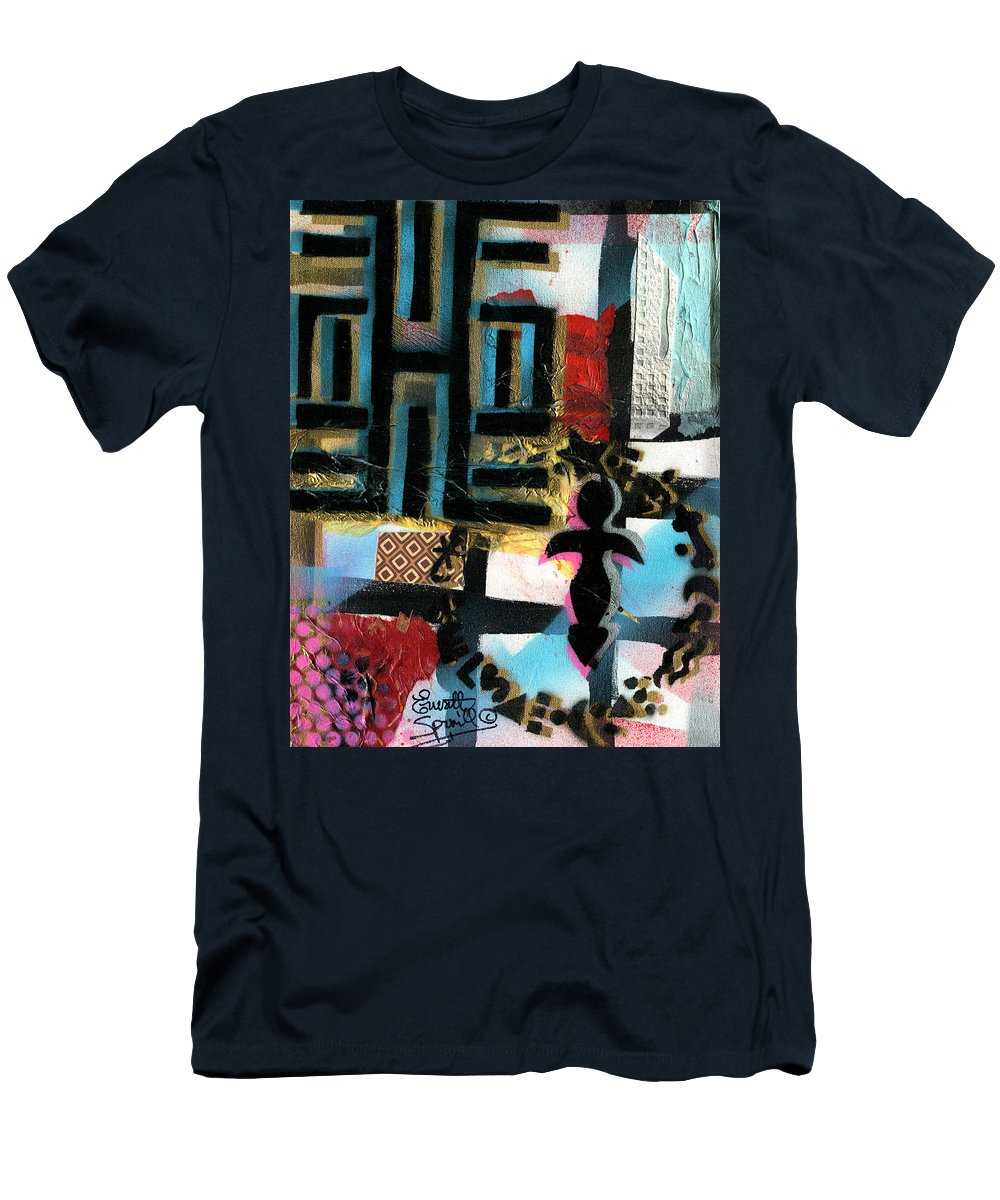 Everett Spruill T-Shirt featuring the painting Knowledge Is Power by Everett Spruill