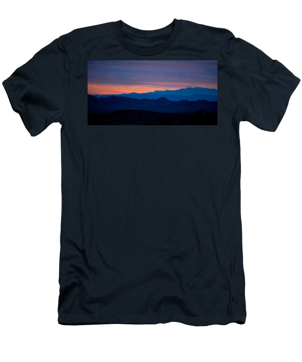 Big Sky Men's T-Shirt (Athletic Fit) featuring the photograph Layers - The Mojave IIi by Peter Tellone