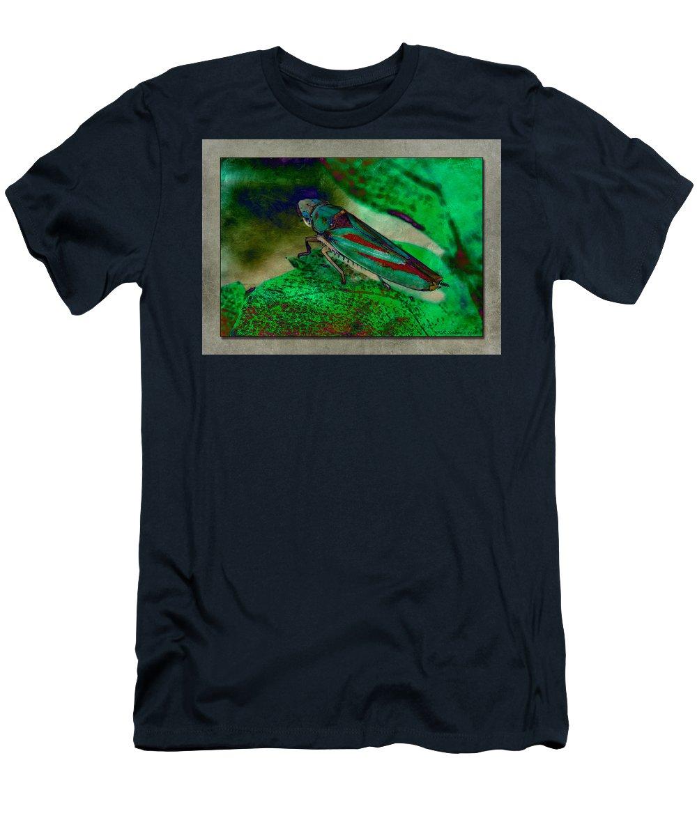 Leaf Hopper Men's T-Shirt (Athletic Fit) featuring the photograph Leaf Hopper by WB Johnston