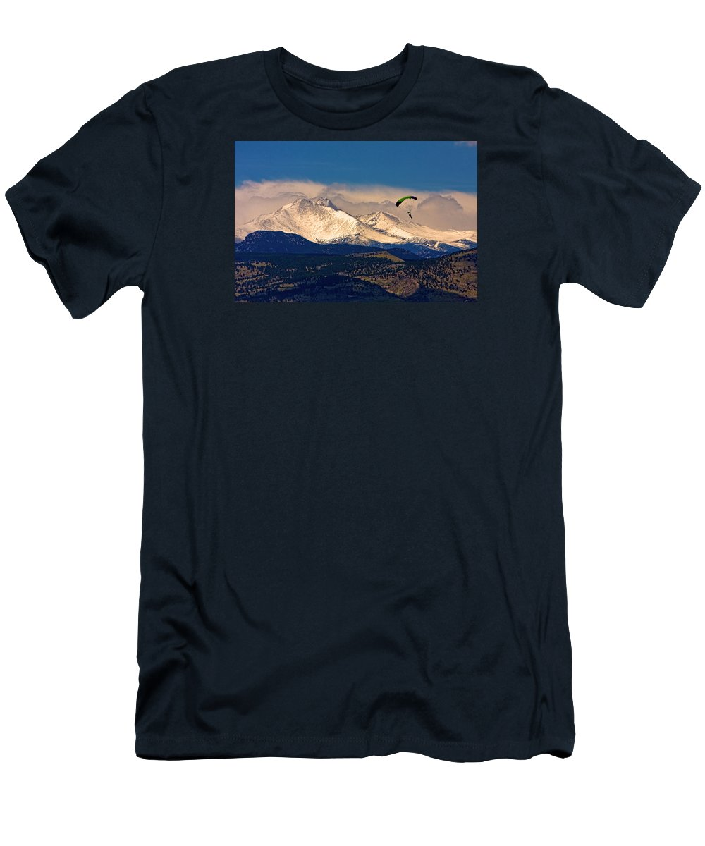 Oulder County T-Shirt featuring the photograph Leap of Faith by James BO Insogna