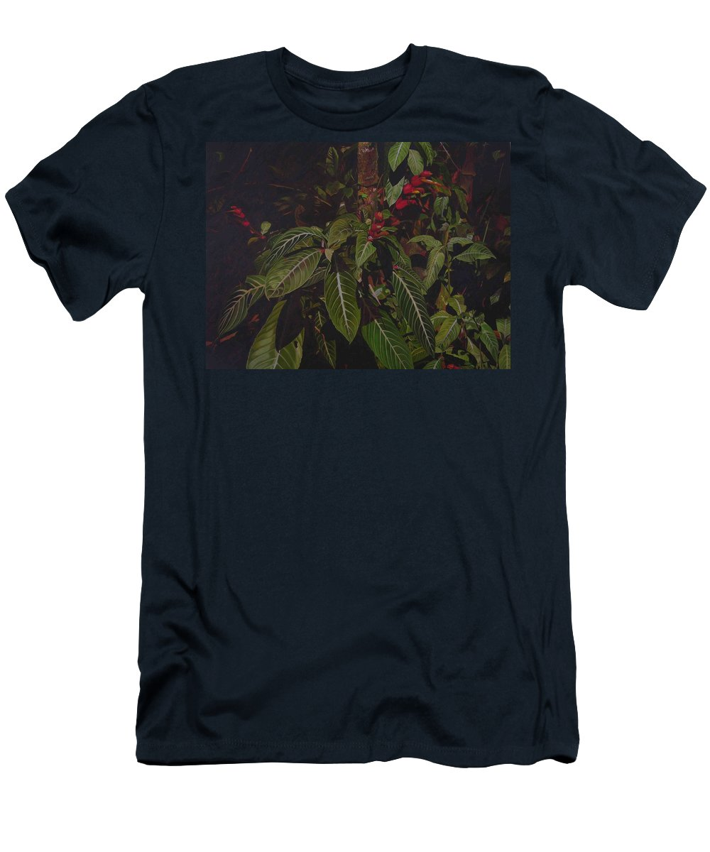 Leaves Men's T-Shirt (Athletic Fit) featuring the painting Leaving Monroe by Thu Nguyen