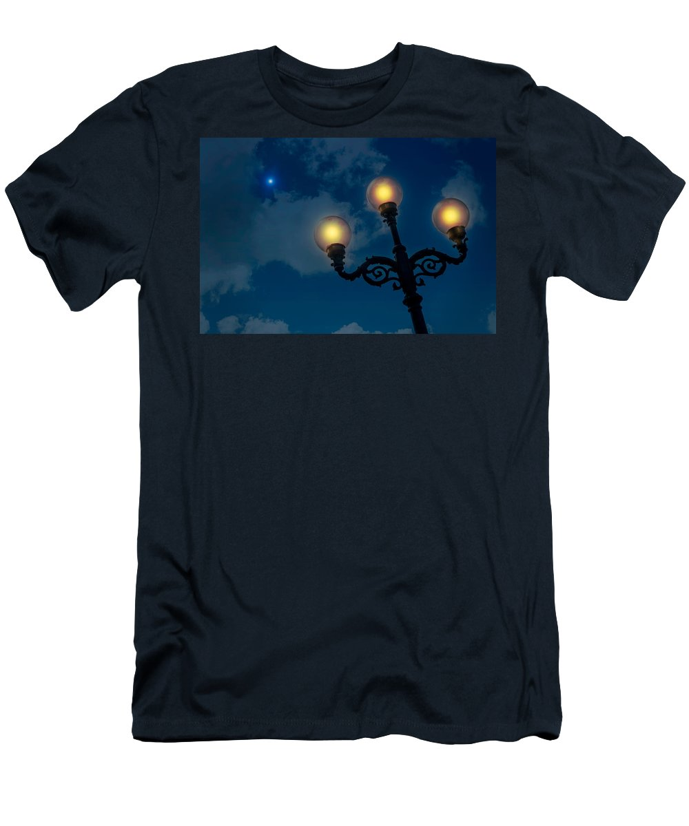 Antique Men's T-Shirt (Athletic Fit) featuring the photograph Light In The Night by Alain De Maximy