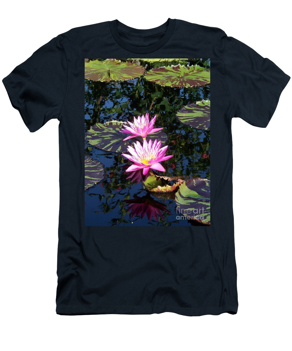 Lily Men's T-Shirt (Athletic Fit) featuring the painting Lily Monet by Eric Schiabor