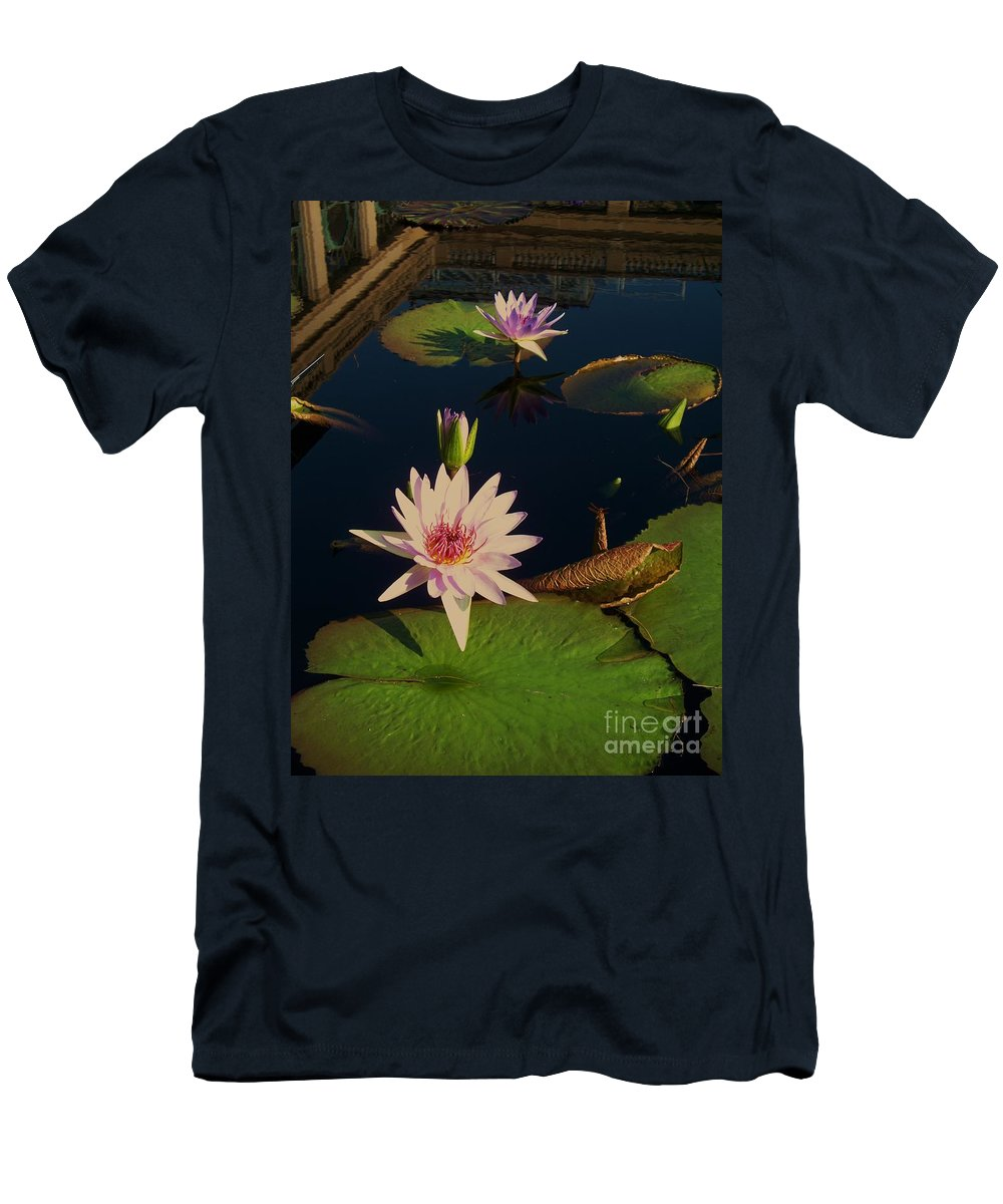 Photograph Men's T-Shirt (Athletic Fit) featuring the photograph Lily White Monet by Eric Schiabor