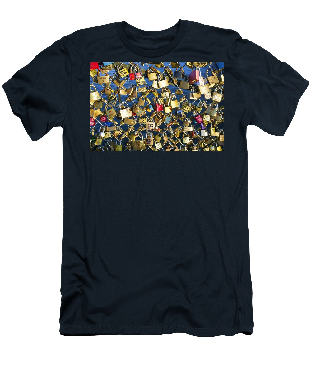 Locks Men's T-Shirt (Athletic Fit) featuring the photograph Locks Of Love by Hugh Smith