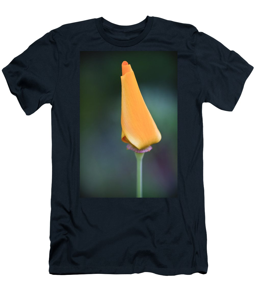 3scape Photos Men's T-Shirt (Athletic Fit) featuring the photograph Lone Bud by Adam Romanowicz