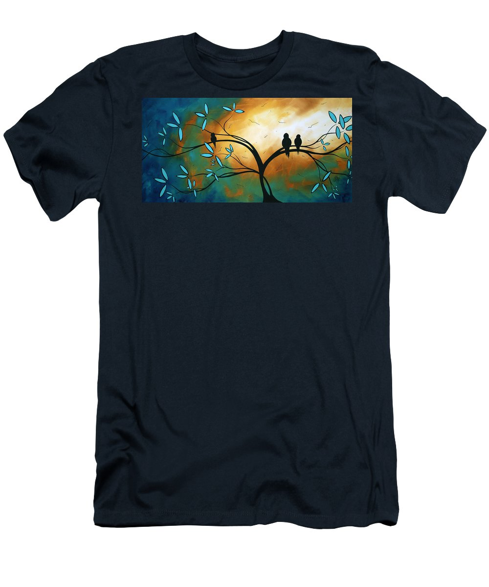 Art Men's T-Shirt (Athletic Fit) featuring the painting Longing By Madart by Megan Duncanson