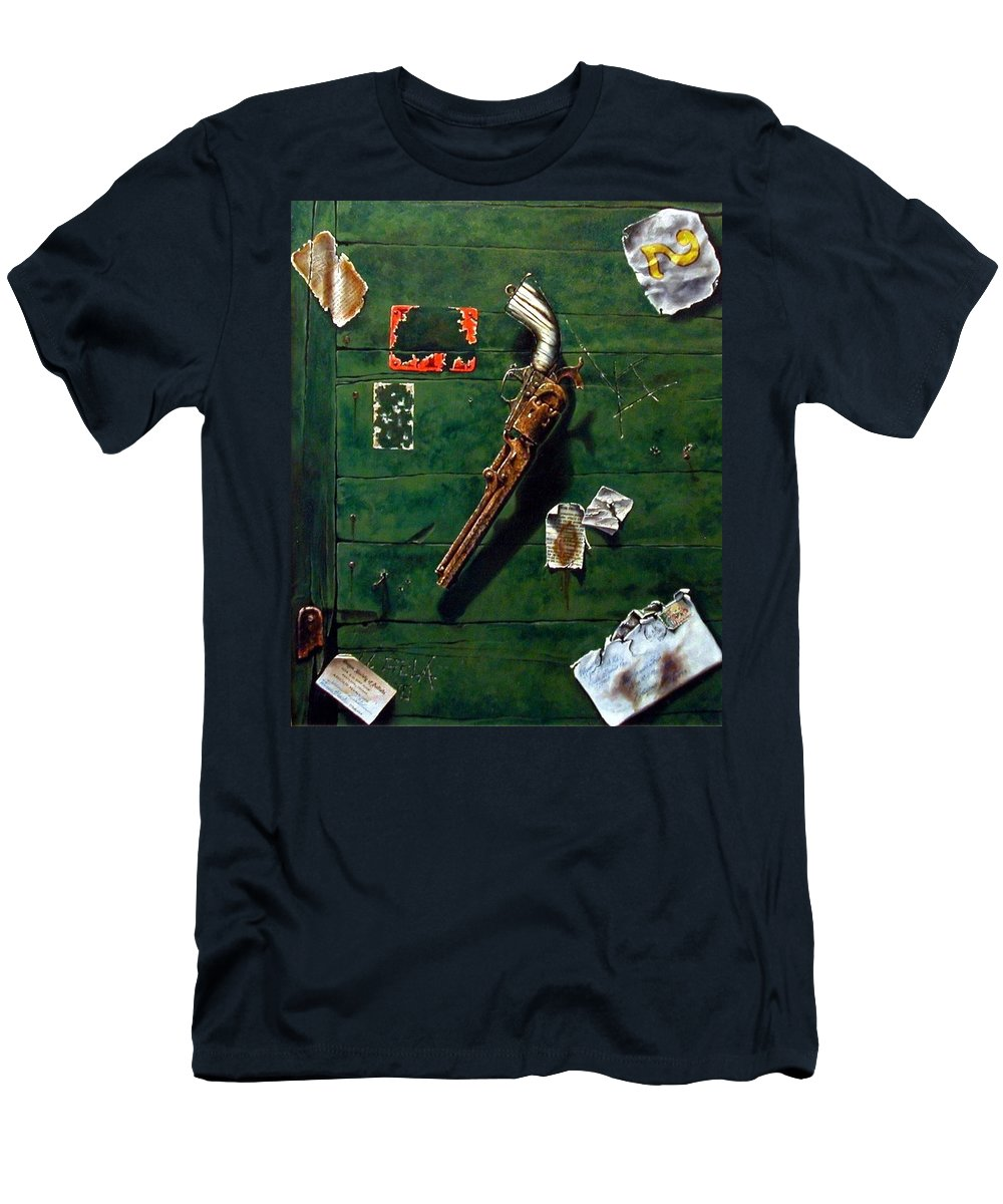 Trompe Le Oil Men's T-Shirt (Athletic Fit) featuring the painting Lost And Found by Jim Gola