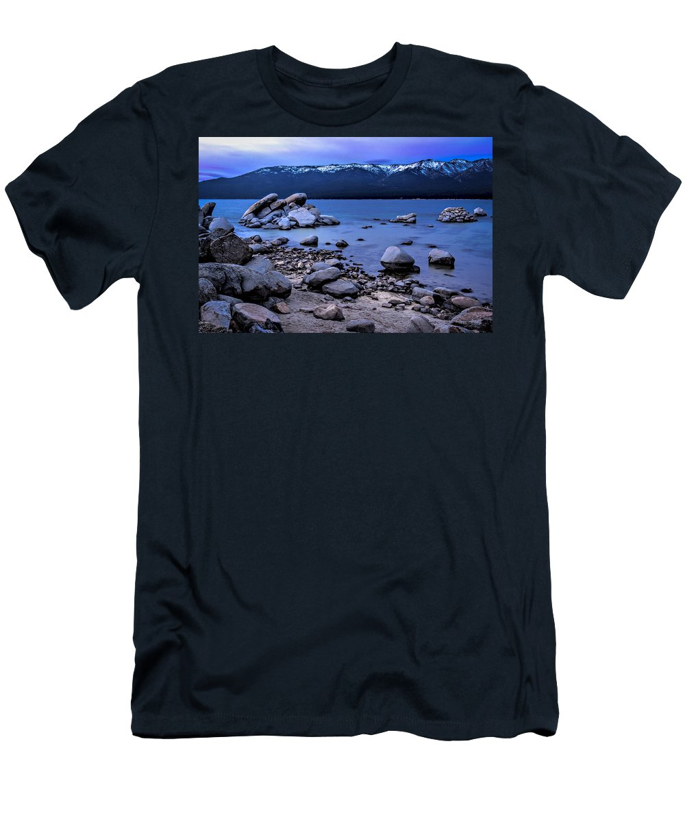 Landscape Men's T-Shirt (Athletic Fit) featuring the photograph Lots Of Rocks by Maria Coulson