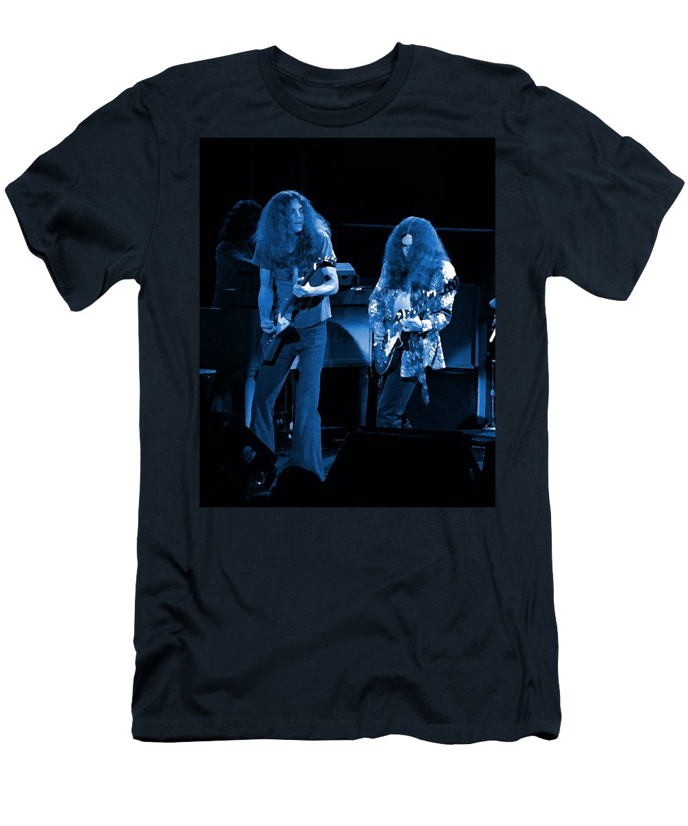 Lynyrd Skynyrd Men's T-Shirt (Athletic Fit) featuring the photograph Ls Spo #21 Crop 4 In Blue by Ben Upham