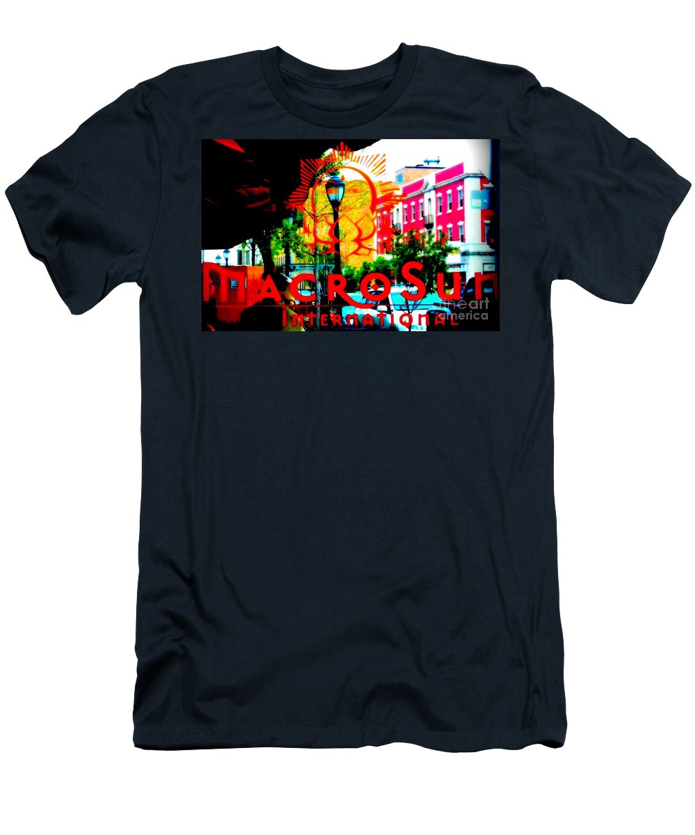 Men's T-Shirt (Athletic Fit) featuring the photograph Macro Sun International by Kelly Awad