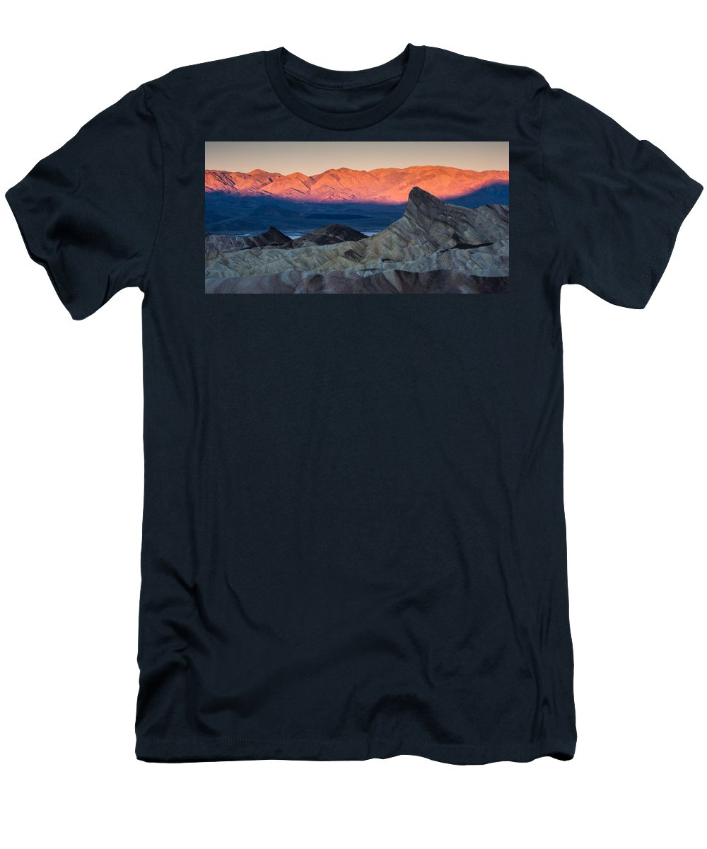 Death Valley Men's T-Shirt (Athletic Fit) featuring the photograph Manly Dawn by Dayne Reast