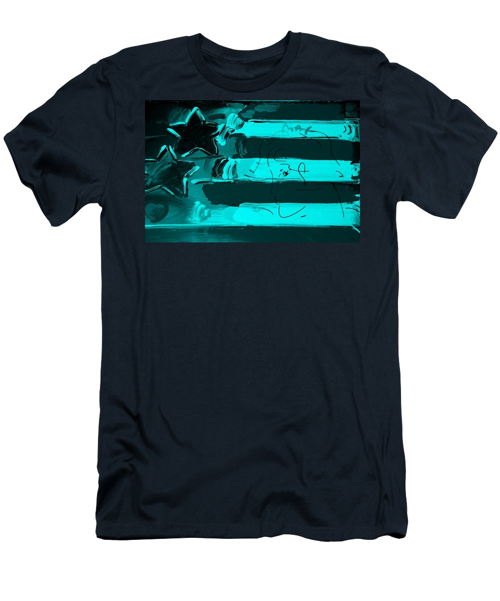 Modern Men's T-Shirt (Athletic Fit) featuring the photograph Max Stars And Stripes In Turquois by Rob Hans