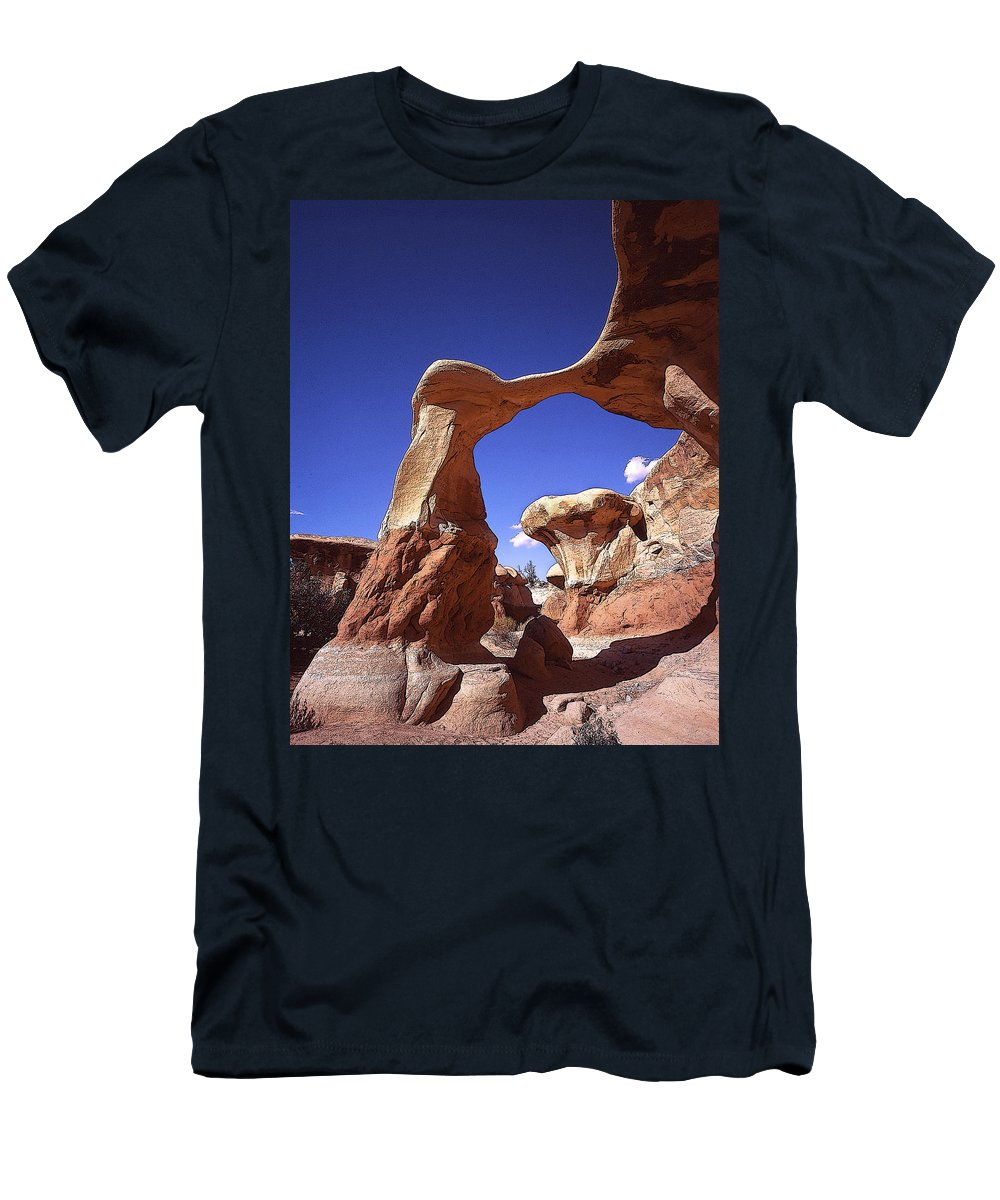 Metate Arch Men's T-Shirt (Athletic Fit) featuring the photograph Metate Arch 2 by Rich Franco
