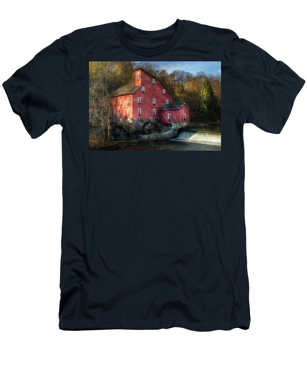 Savad Men's T-Shirt (Athletic Fit) featuring the photograph Mill - Clinton Nj - The Old Mill by Mike Savad