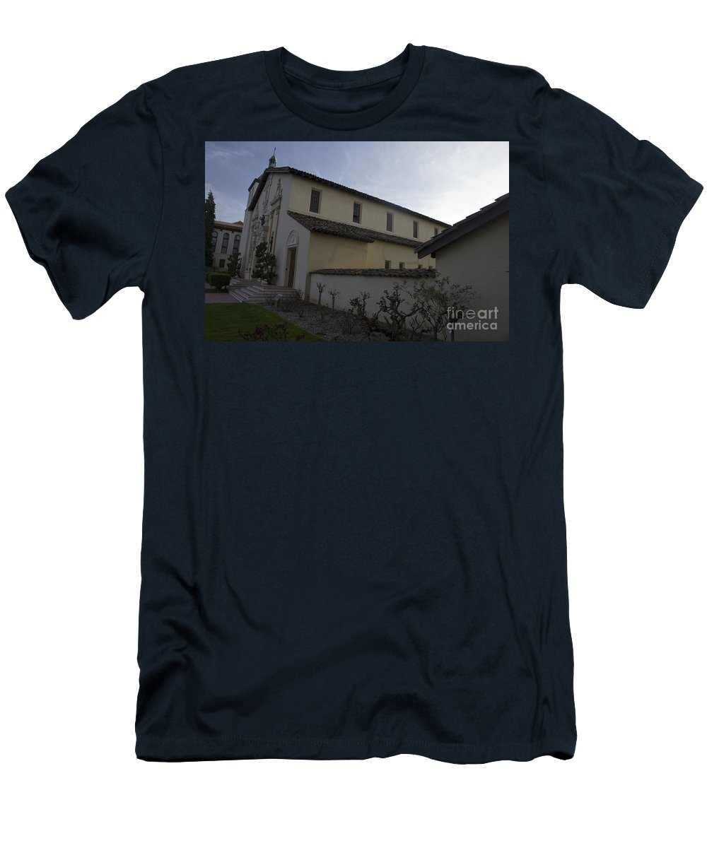 Travel Men's T-Shirt (Athletic Fit) featuring the photograph Mission Santa Clara by Jason O Watson