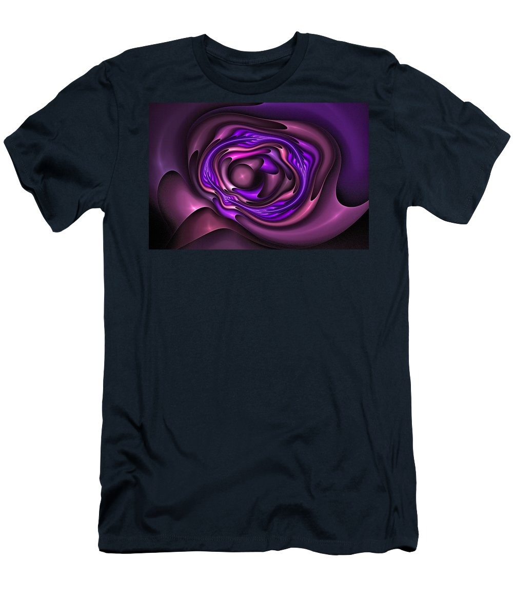 Fractal Field Men's T-Shirt (Athletic Fit) featuring the digital art Mobius Field Generator Fractal Blue by Doug Morgan