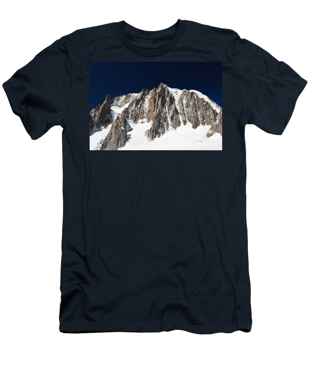 Alpine Men's T-Shirt (Athletic Fit) featuring the photograph Mont Blanc Massif by Antonio Scarpi