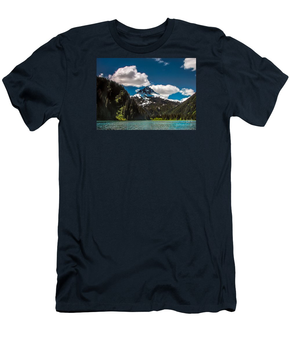 Alaska Men's T-Shirt (Athletic Fit) featuring the photograph Mountain View by Robert Bales