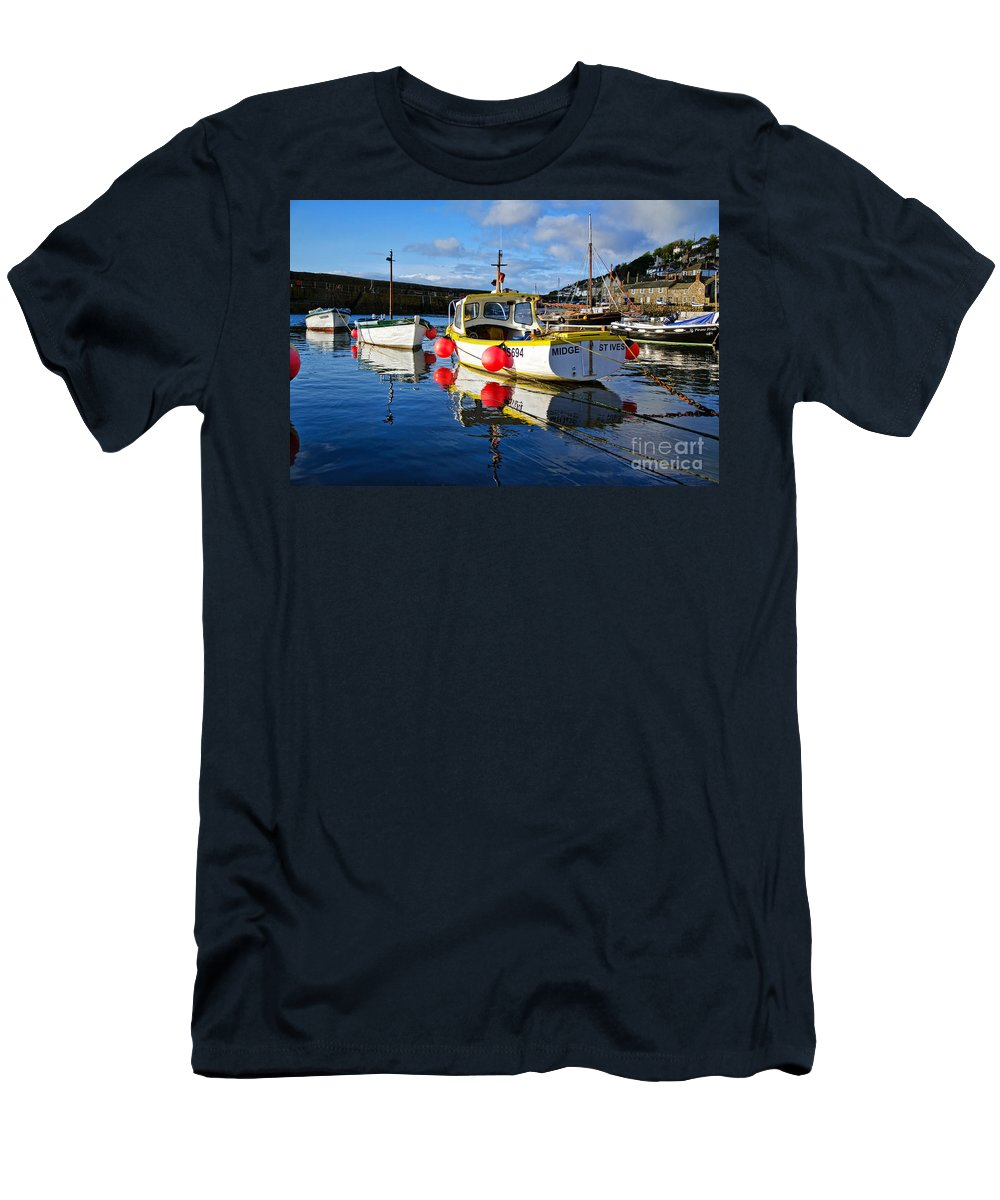 Mousehole Men's T-Shirt (Athletic Fit) featuring the photograph Mousehole Harbour by Susie Peek