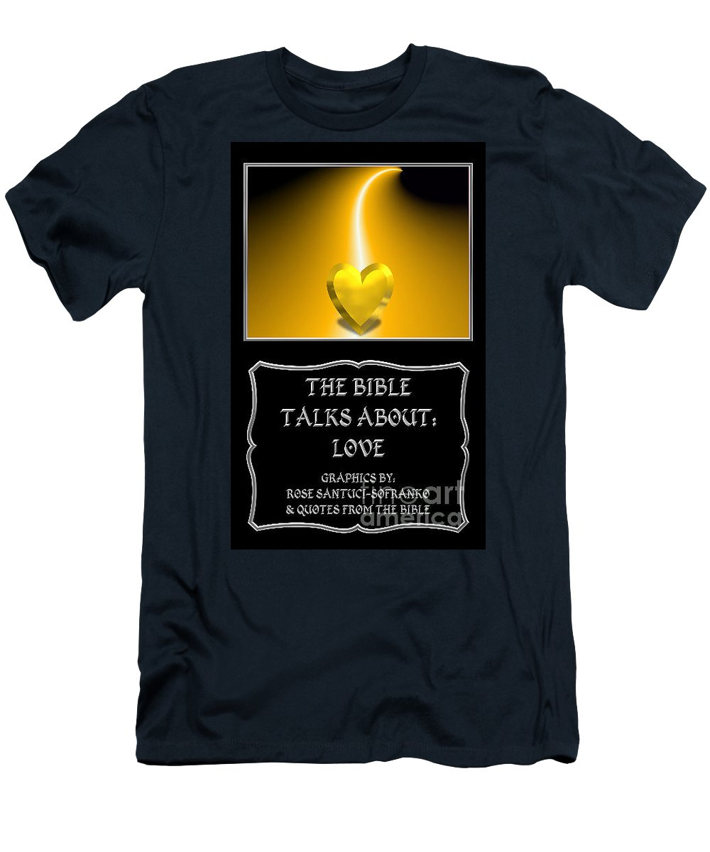 Bible Men's T-Shirt (Athletic Fit) featuring the photograph My The Bible Talks About Love Book by Rose Santuci-Sofranko