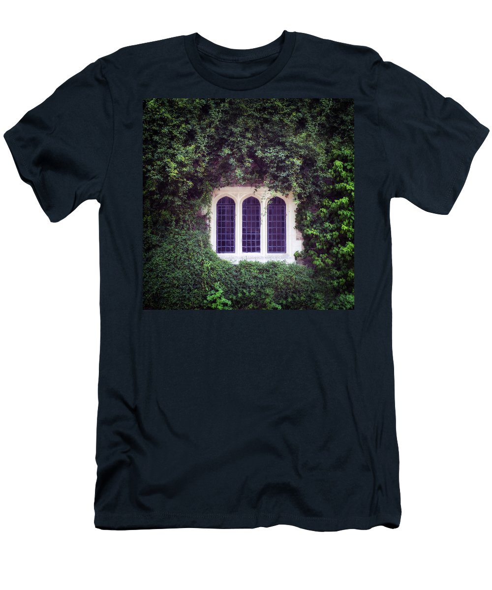 Window Men's T-Shirt (Athletic Fit) featuring the photograph Mysterious Window by Joana Kruse