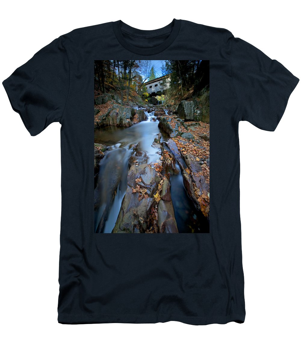 Rock Men's T-Shirt (Athletic Fit) featuring the photograph Narrows by Ed Boudreau