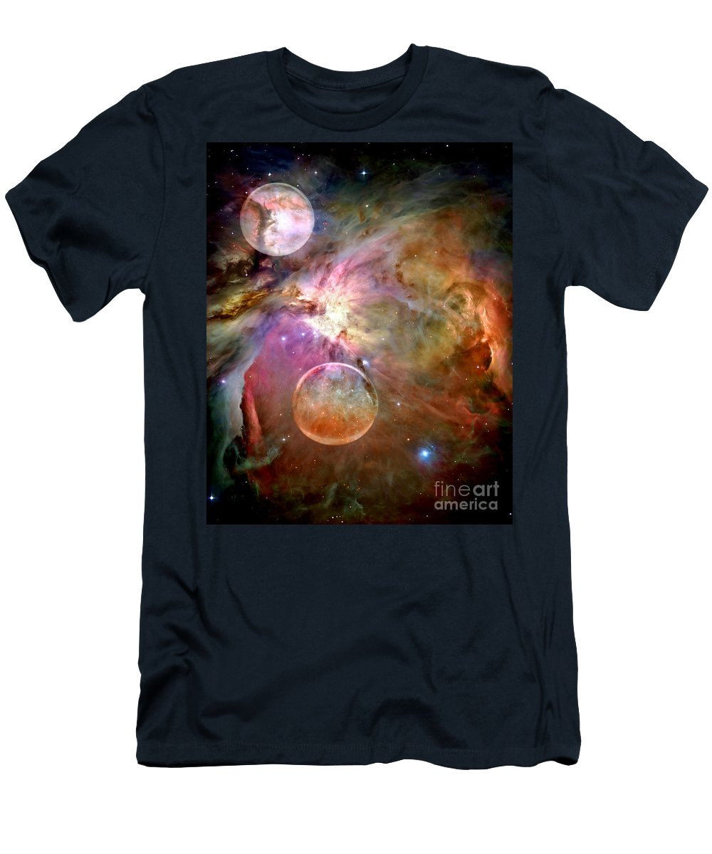 Space Men's T-Shirt (Athletic Fit) featuring the photograph New Worlds by Jacky Gerritsen
