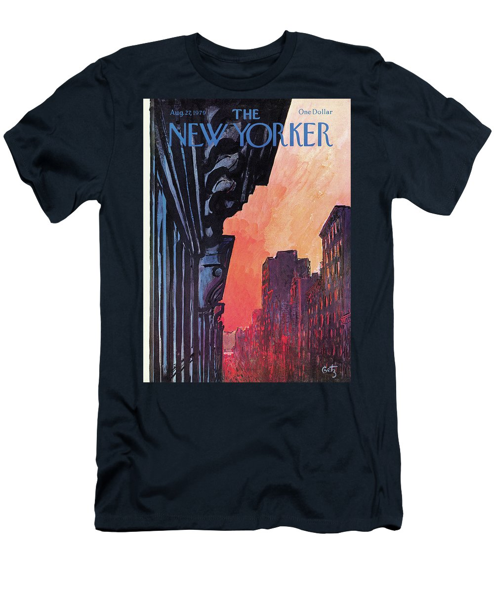 Urban T-Shirt featuring the painting New Yorker August 27th, 1979 by Arthur Getz