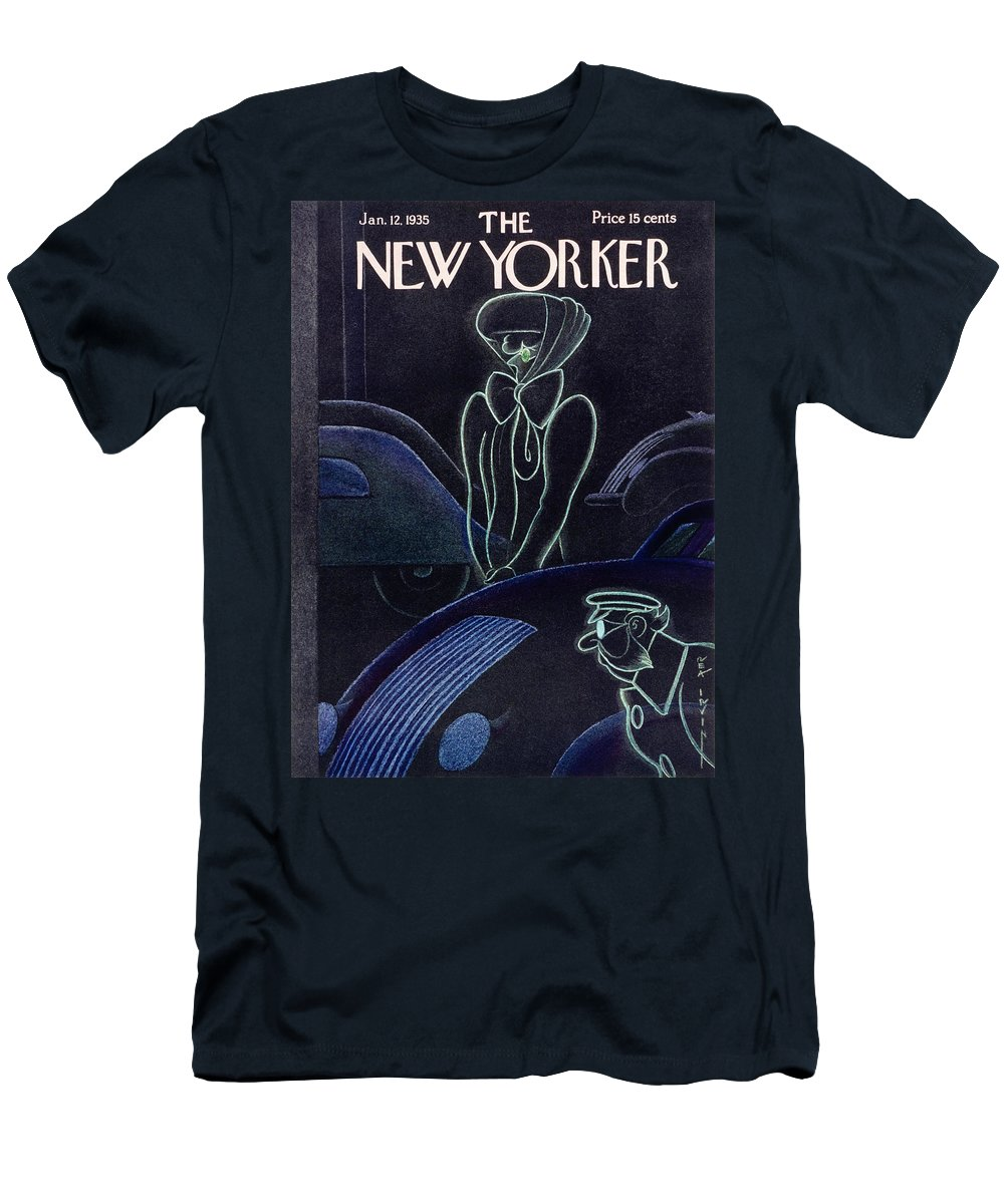 Illustration Men's T-Shirt (Athletic Fit) featuring the painting New Yorker January 12 1935 by Rea Irvin