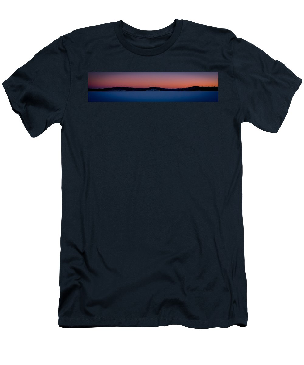 Landscape Men's T-Shirt (Athletic Fit) featuring the photograph Nickerson State Park by Jose Cruz