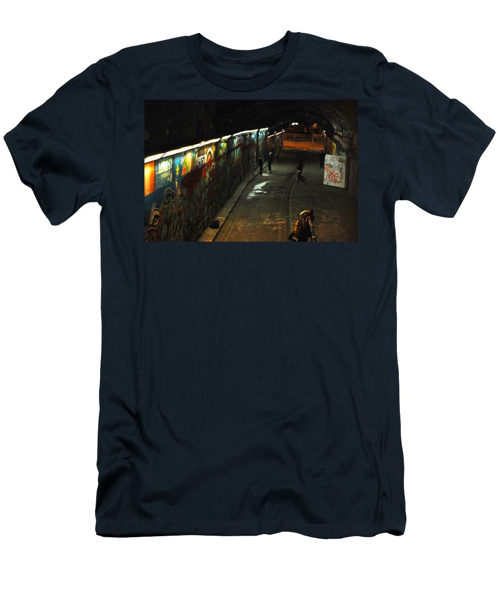 Night Men's T-Shirt (Athletic Fit) featuring the digital art Night Activity by Gina Dsgn