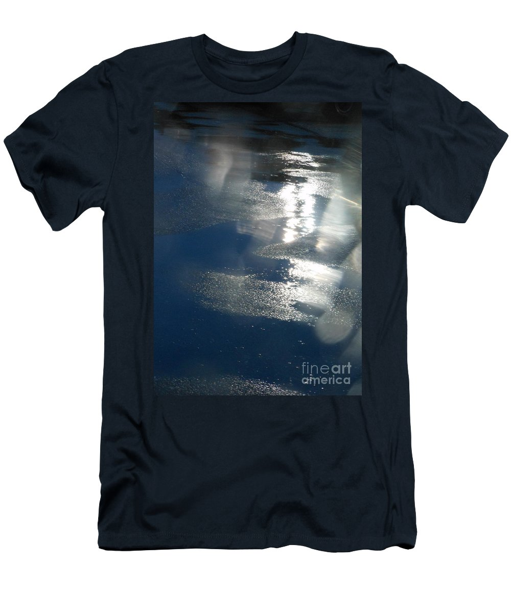 Reflections Men's T-Shirt (Athletic Fit) featuring the photograph Night Rain by Charlotte Stevenson