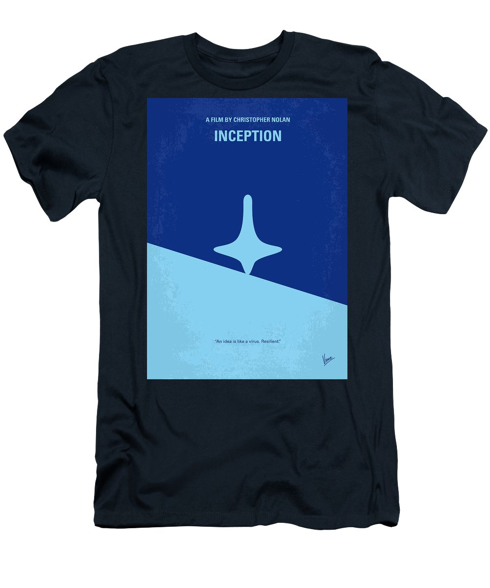 Inception T-Shirt featuring the digital art No240 My Inception minimal movie poster by Chungkong Art