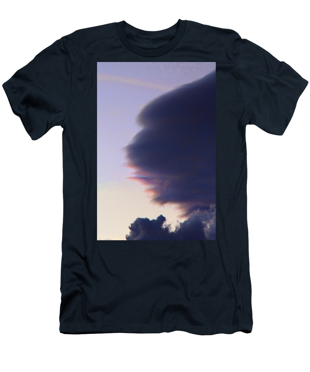 Sky Men's T-Shirt (Athletic Fit) featuring the photograph November Clouds 003 by Agustin Uzarraga