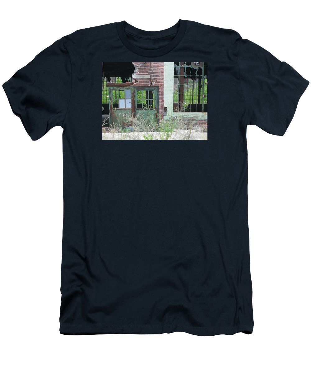 Factory Men's T-Shirt (Athletic Fit) featuring the photograph Obsolete by Ann Horn