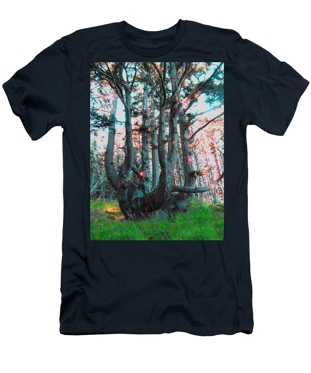 Tree Men's T-Shirt (Athletic Fit) featuring the digital art Octopus Tree by James Barnes