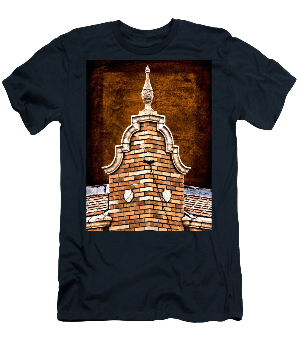 Odegards Roofline Men's T-Shirt (Athletic Fit) featuring the photograph Odegards 3 by Sylvia Thornton