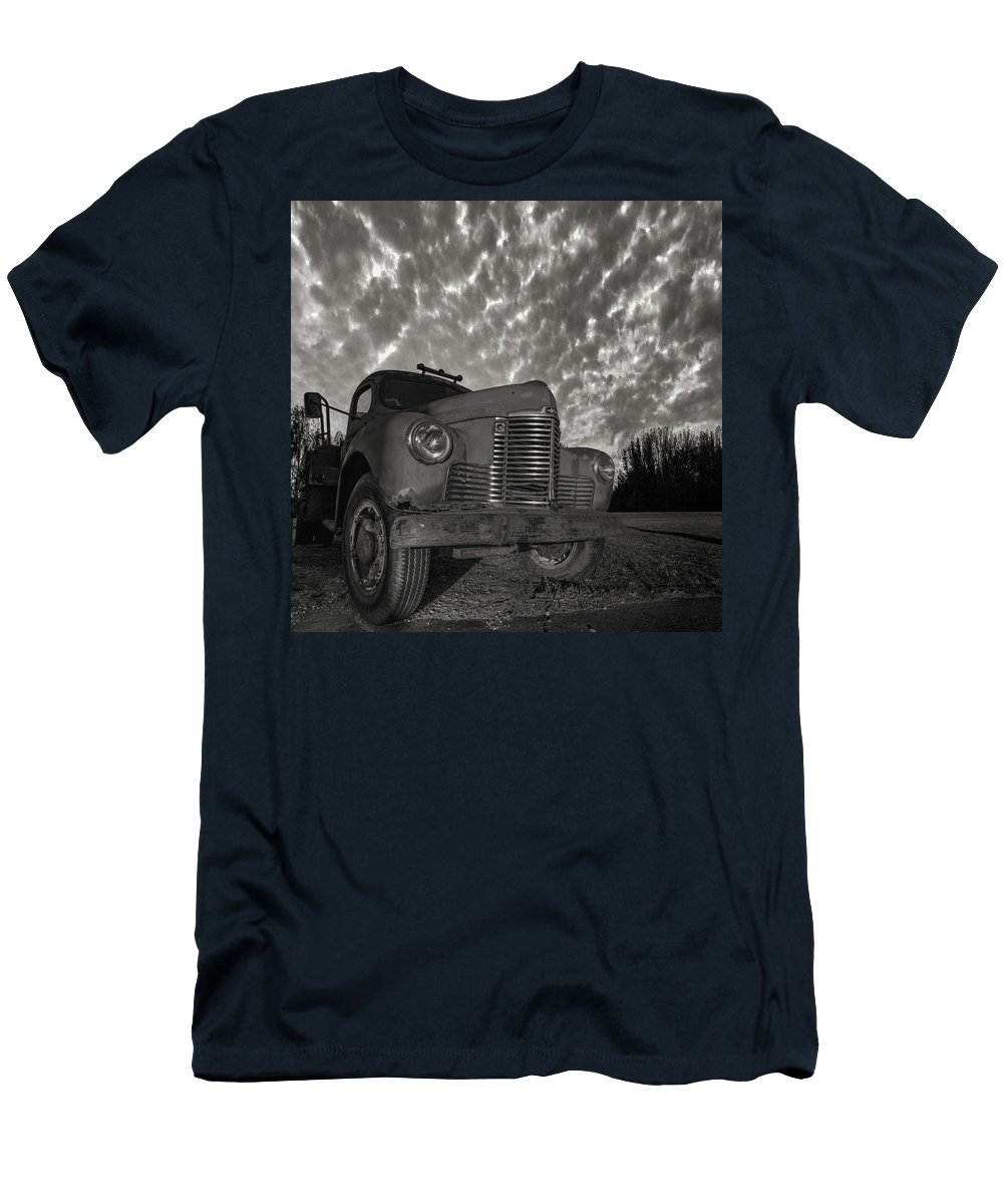 Truck Men's T-Shirt (Athletic Fit) featuring the photograph Old Red by Aaron J Groen