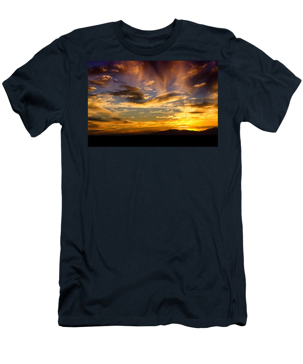 Sunset Men's T-Shirt (Athletic Fit) featuring the photograph Painted By Mother Nature by Saija Lehtonen