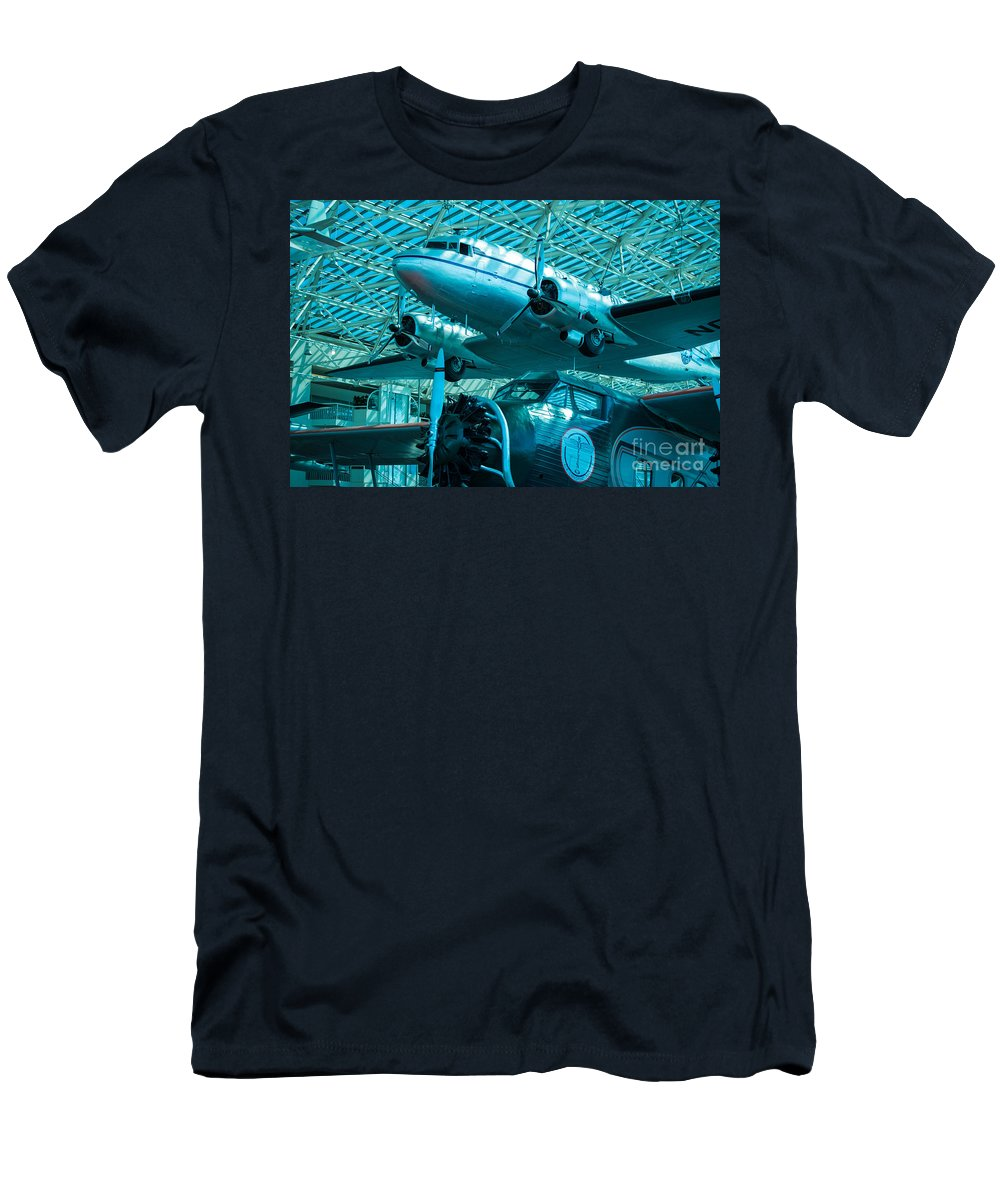 80a Men's T-Shirt (Athletic Fit) featuring the photograph Past And Future by Rich Priest