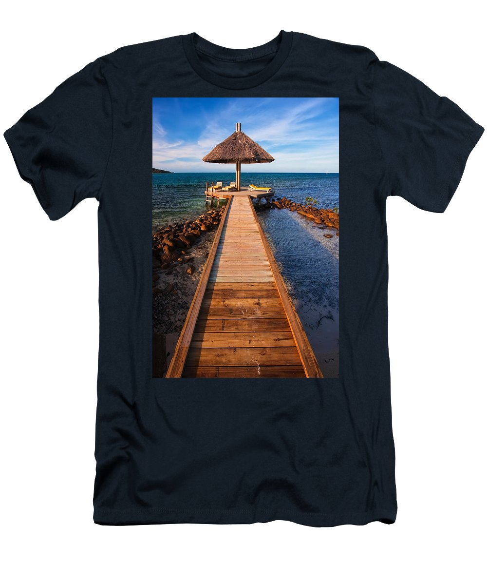 3scape Men's T-Shirt (Athletic Fit) featuring the photograph Perfect Vacation by Adam Romanowicz
