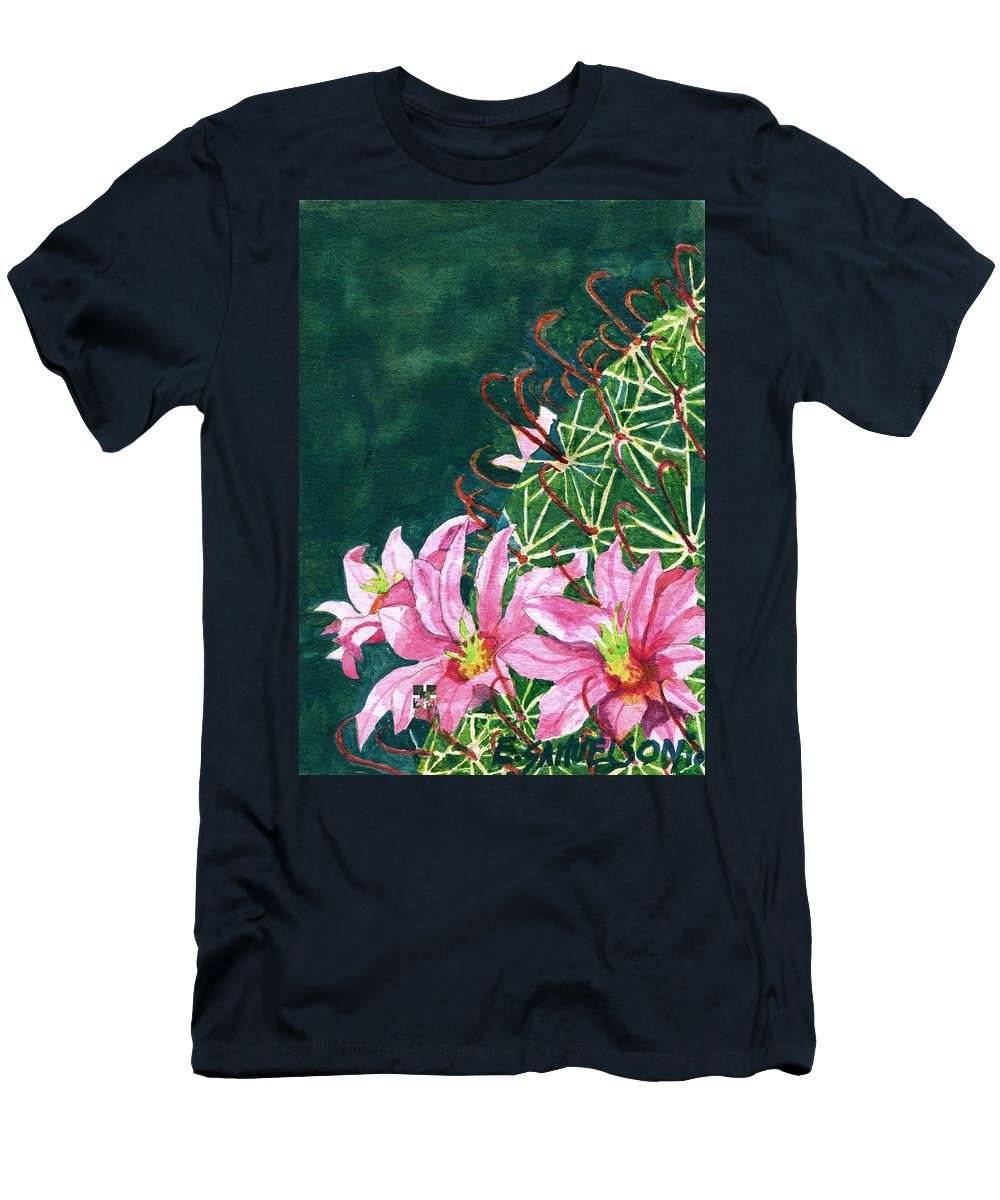 Fishhook Barrel Men's T-Shirt (Athletic Fit) featuring the painting Pink Beauty by Eric Samuelson