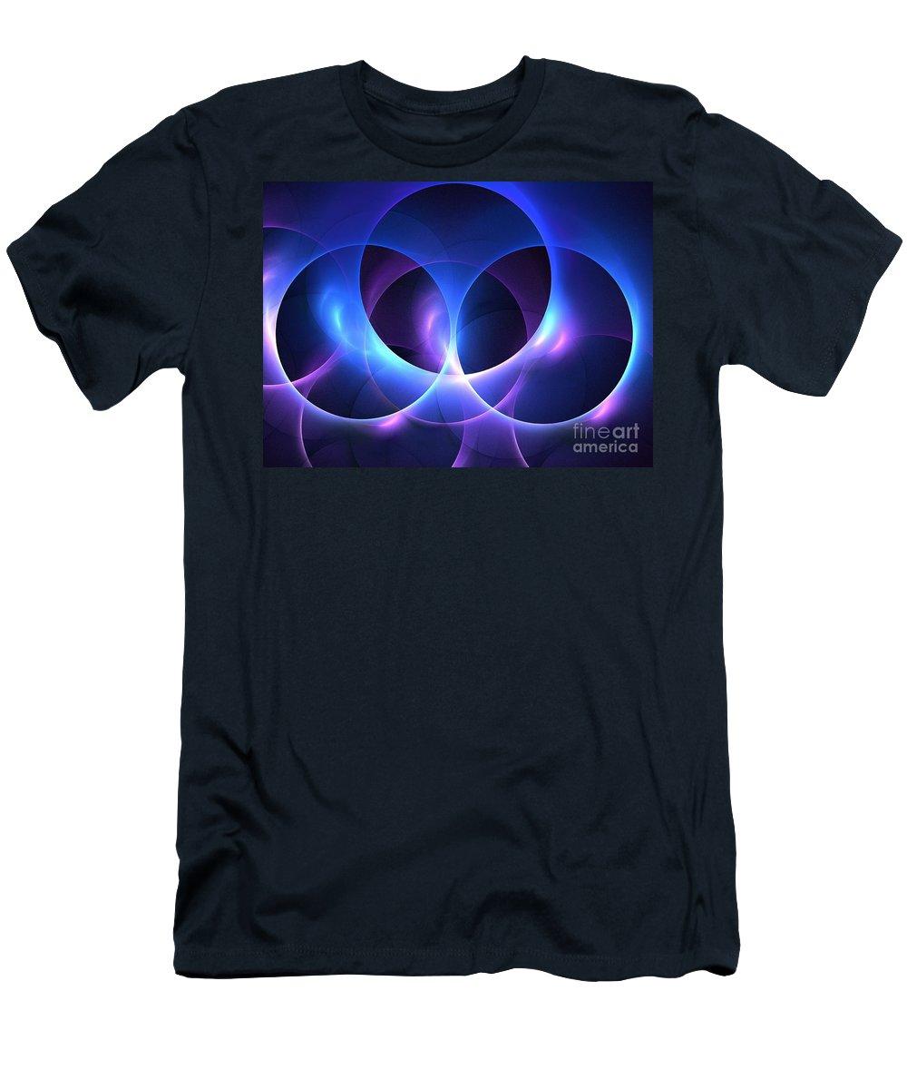 Apophysis Men's T-Shirt (Athletic Fit) featuring the digital art Porpoise by Kim Sy Ok