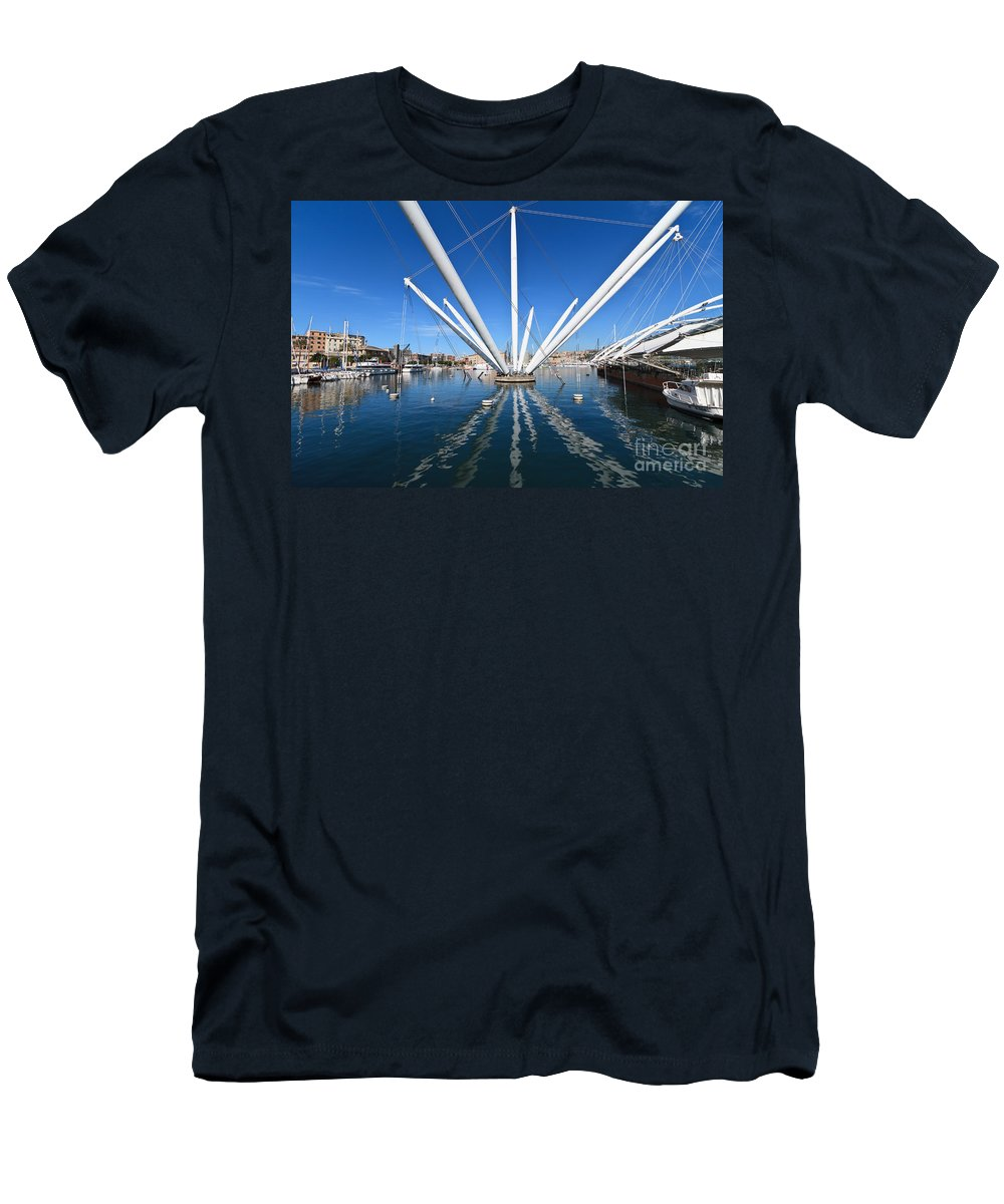 Ancient Men's T-Shirt (Athletic Fit) featuring the photograph Porto Antico In Genova by Antonio Scarpi