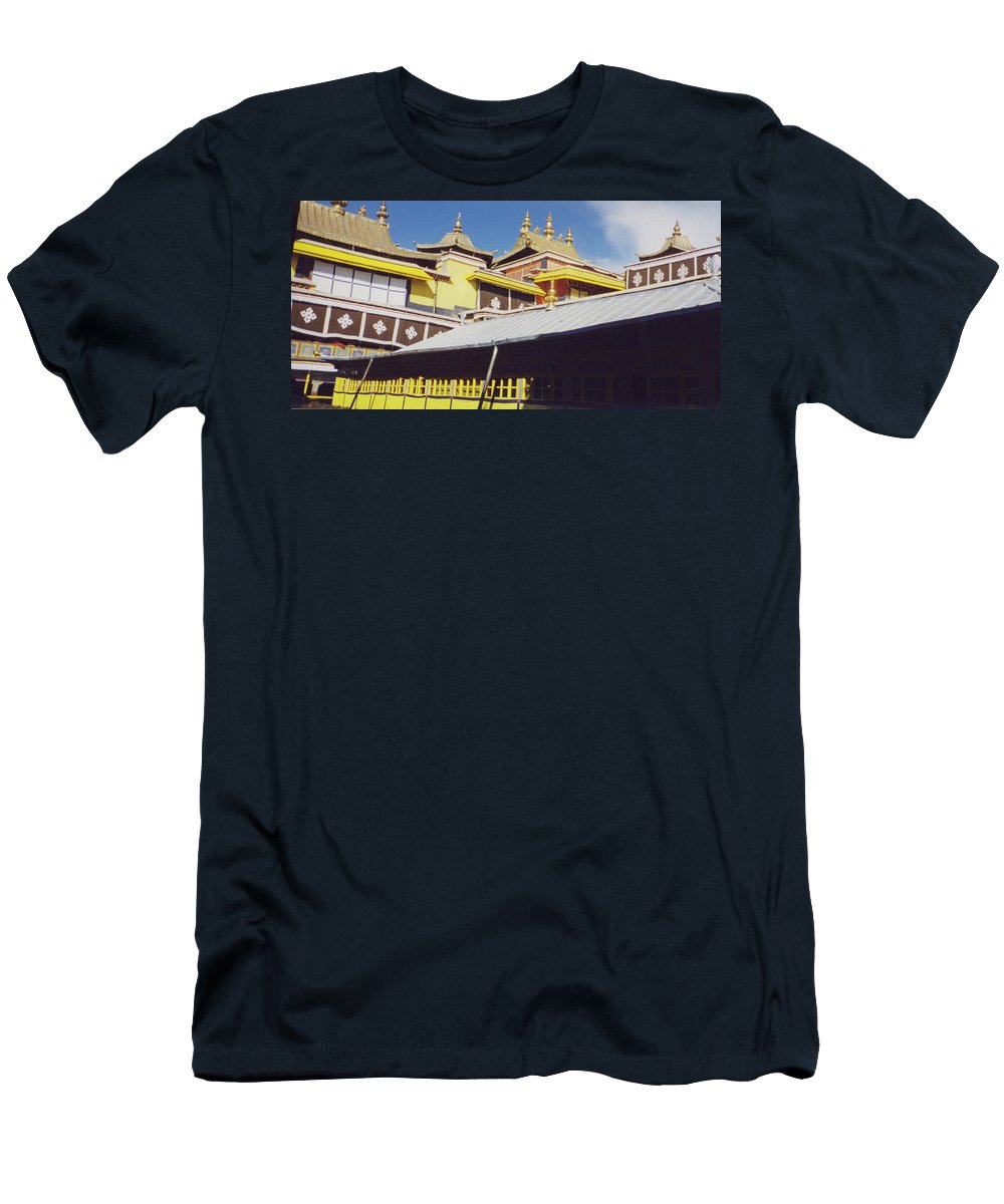 Tibet Men's T-Shirt (Athletic Fit) featuring the photograph Potala Palace 1 by First Star Art
