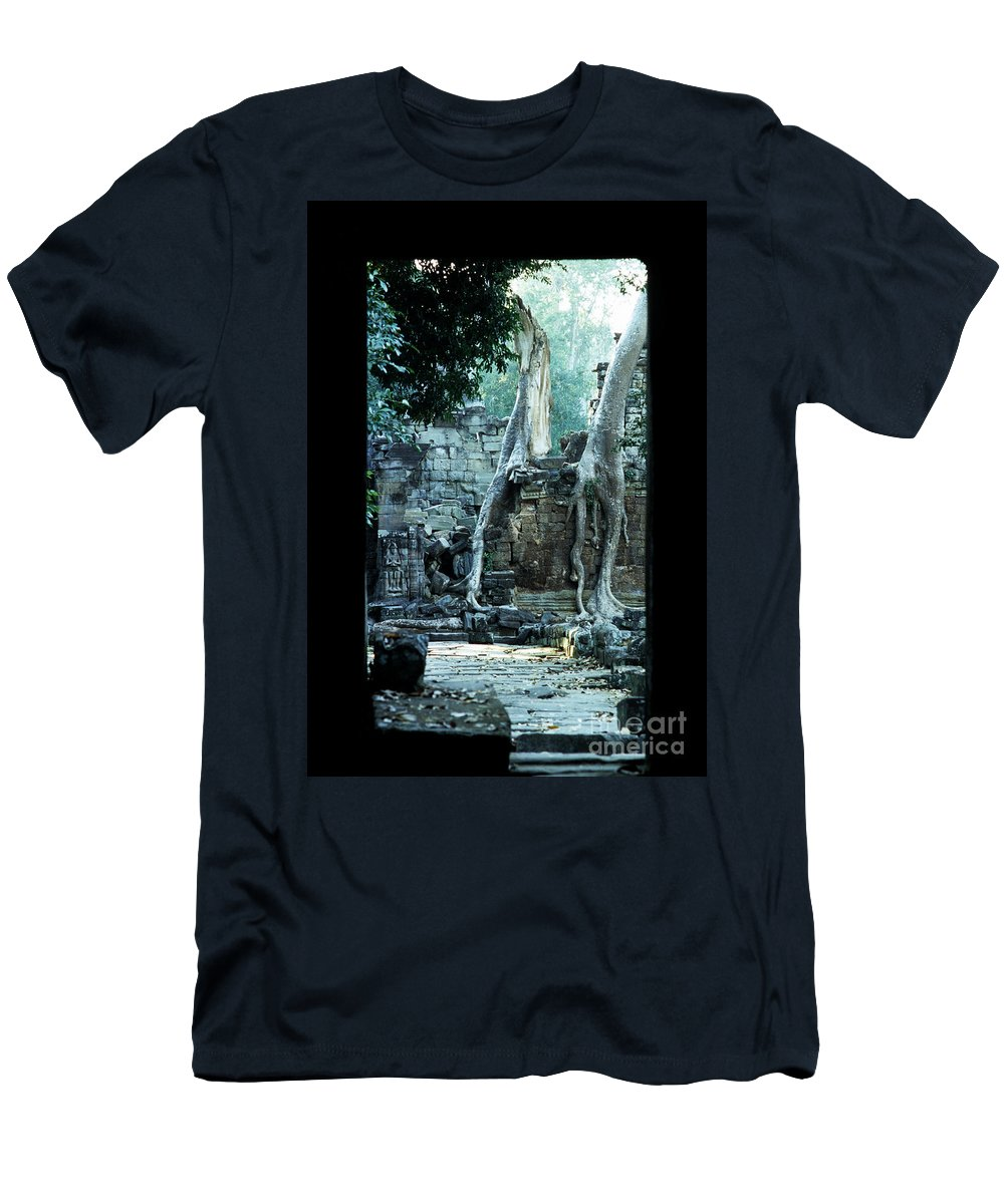 Cambodia Men's T-Shirt (Athletic Fit) featuring the photograph Preah Khan Temple 01 by Rick Piper Photography