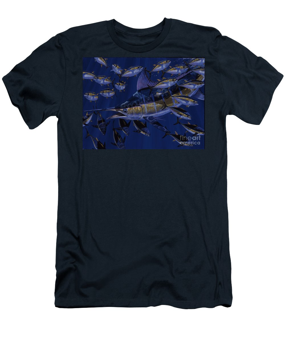 Marlin Men's T-Shirt (Athletic Fit) featuring the painting Premonition Off0063 by Carey Chen